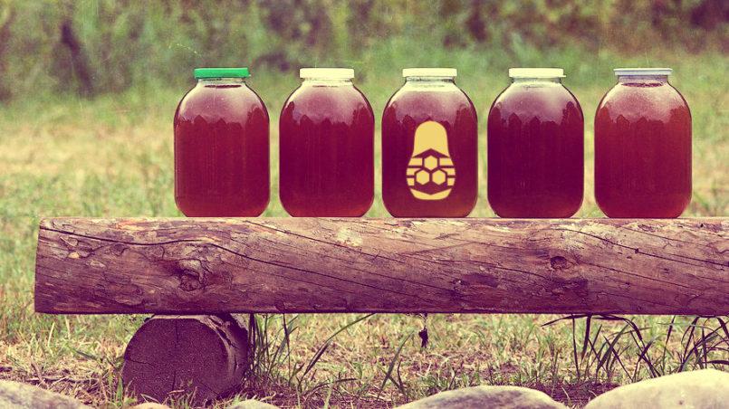 Банки с мёдом